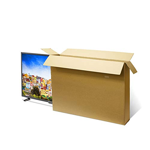 Caja de cartón para TV – Caja de TV de doble pared de cartón sólido para embalar, almacenar y enviar | Mejor para televisores de 49