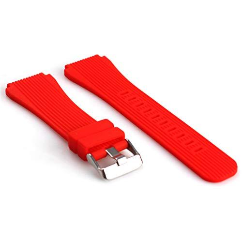 N/A/ Correa de silicona para reloj Samsung SM-R800 de 46 mm para reloj inteligente Gear S3 Frontier, correa de silicona de repuesto para Huami Stratos 2