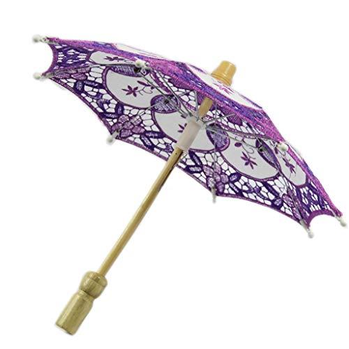 GUMEI Hotsale Parasol Paraguas Bordado Encaje para Decoración de Banquete de Boda Nupcial