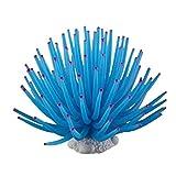 Xuebai 1 Pieza de anémona de mar de Silicona Suave Planta de mar Artificial Adornos de Coral decoración de Acuario para decoración de peceras anémona de mar Artificial Azul