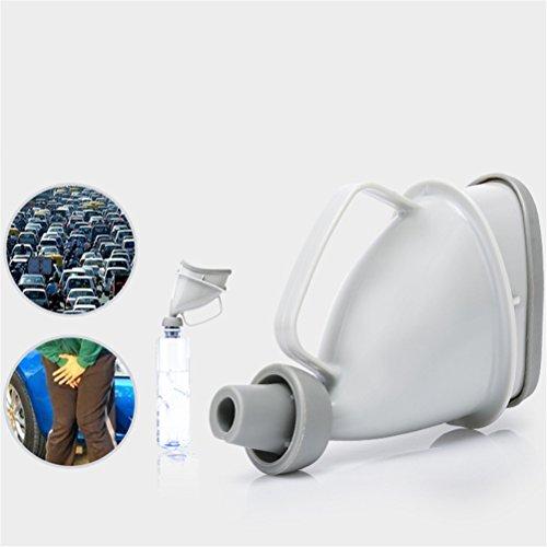 Dispositif D'urinoir Unisexe Femelle Urinoir, Réutilisable Portable Pee Entonnoir Urinoir Adulte pour L'utilisation De La Circulation D'urgence De Toilette De Voiture en Plein Air, Gris