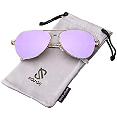 UV400 PROTECTION FOR YOUR EYES – SojoS's anti-glare lenses can block 100% of both UVA and UVB radiation. UV400 rated sunglasses are essential to filtering out sunlight reflected glare and protecting your eyes against long term UV damage when you go o...