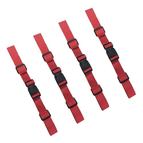 perfeclan 2 Paar Universal Rucksack Sternum Brustgurt Verstellbarer Taillengürtel Rucksack Ersatzteil Rot