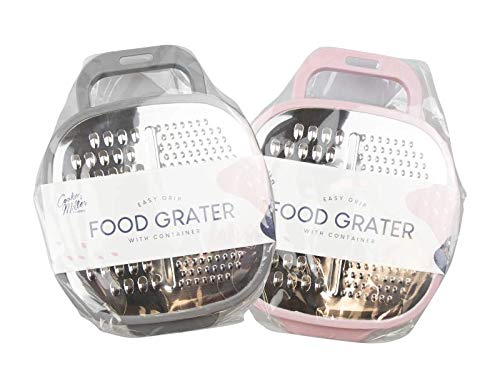 Z-Enterprise X Manual Cheese Grater with Food Container, Stainless Steel...
