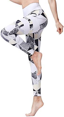 Witkey Women Yoga Pants Women Printed High Waist Yoga Leggings Power Flex Capris Workout Leggings product image