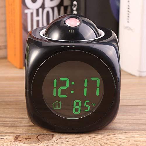 投影目覚まし時計 目覚まし時計 プロジェクター スヌーズアラーム 温度計 LEDデジタル カラフル 音声通話機能 置き時計 ロマチック 寝室 部屋 プレゼント ギフト