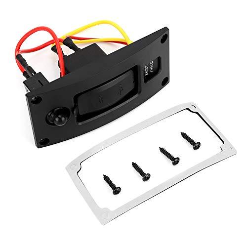 Oubit Barco USB Marine-5V3.4A Impermeable Barco Marine RV Dual Puerto USB Cargador Medidor Panel Interruptor con disyuntor