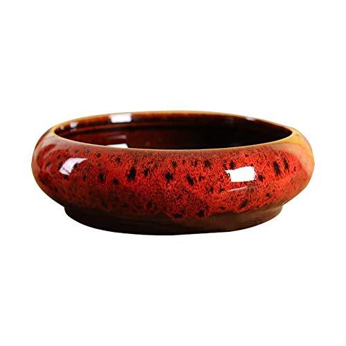 Bledyi Maceta para plantas suculentas de 18,5 cm de diseño redondo de cerámica moderno para plantas suculentas, cactus, macetas decorativas para macetas