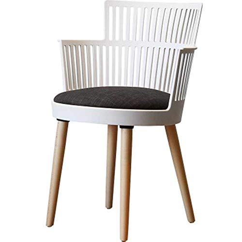 Decoración de Muebles Silla de Comedor Silla de Comedor Simple y Elegante Silla con Respaldo Individual para Sala de Estar y Comedor Siéntese cómodamente (Color: Negro Tamaño: 35x40x80cm)
