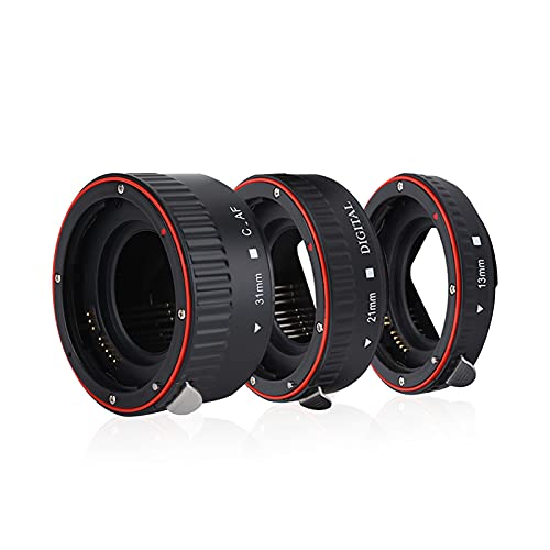 Juego de tubos de extensión macro para Canon EOS EF montura, 13mm...
