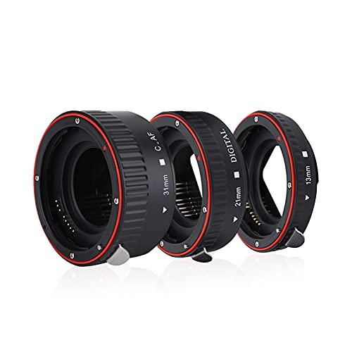 Juego de tubos de extensión macro para Canon EOS EF montura, 13mm + 21mm + 31mm anillo adaptador de lente de enfoque automático