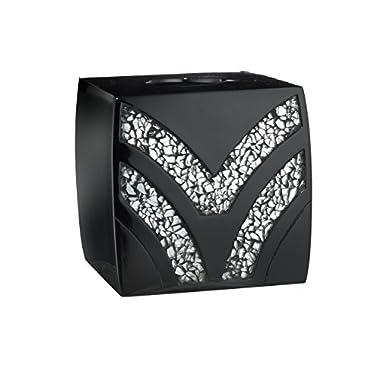 Popular Bath 838817 Sinatra Tissue Box,Black,Tissue-Holders