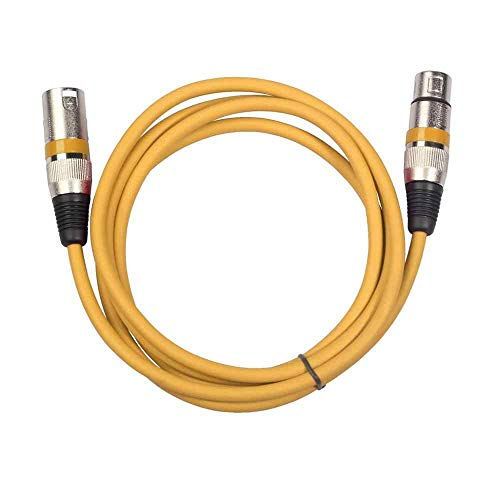 KE KROWN XLR Male to XLR Female cable 2 Meter (Yellow)