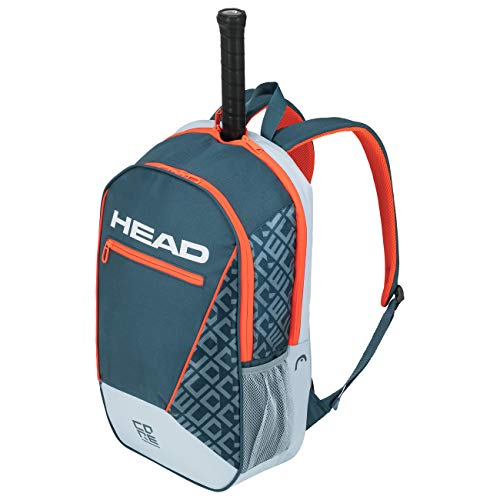 Head Core Backpack Bolsa de Tenis  Adultos Unisex  Gris Naranja  Otro