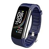 JIAJBG Temperatura de Moda C6T Cuerpo Smart Reloj Pulsera Ip67 Impermeabilizan Monitor de Ritmo Cardíaco Smartband Muñequera Rastreador de Ejercicios de la Salud exquisito regalo /