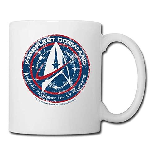 Star Trek Discovery - Taza de cerámica con diseño de la Flota Estelar, taza de desayuno, taza de té y café, taza divertida, regalo para padres y amigos de cerámica, 325 ml