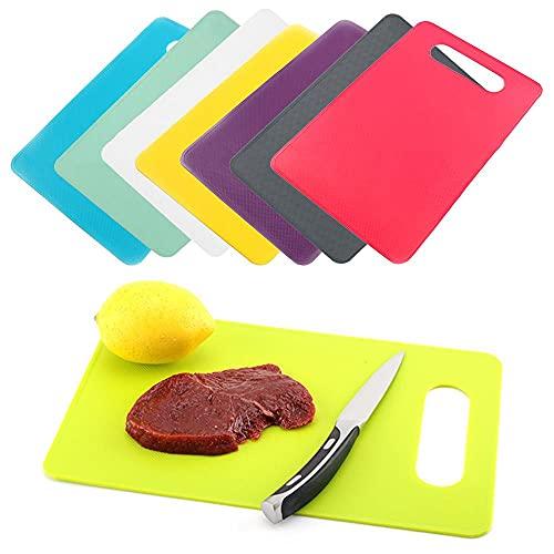 Tabla de cortar de plástico Tabla de clasificación de alimentos Camping comida tabla de cortar antideslizante cocina hebilla herramientas de cocina-beige