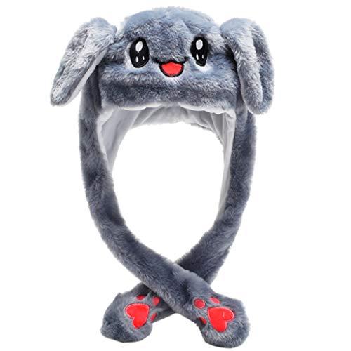 zrshygs Sombrero de Felpa de Animal de Conejo de Dibujos Animados LED...