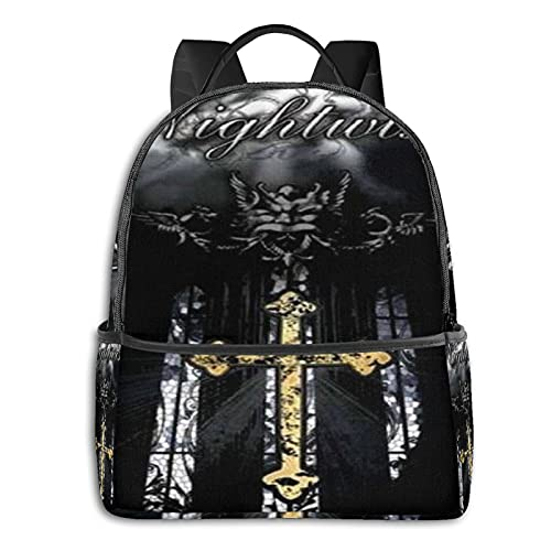 Art Logo Nightwish Zaino Casual Viaggio Bookbag Con Cerniera Per Business School Lavoro Computer Portatile Bookbag