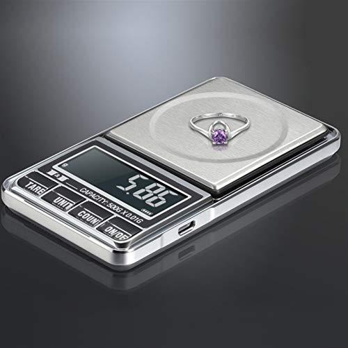 Instrumento de pesaje de precisión universal Básculas de alta precisión Joyas de 0,01 g 500 g de escamas para bolsillo de plata esterlina de oro Mini escalas electrónicas portátiles digitales Rapido y