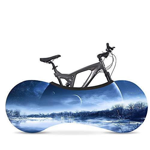 Wooden fish Funda Bici para Interiores Funda para Bicicleta Exterior Cubierta Interior De Bicicleta, La Mejor Solución para Mantener Su Interior Limpio para Bicicletas De Adultos