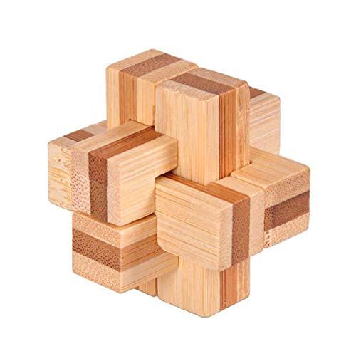Timetided 3D-Puzzles aus Holz Classic Cube Genius Puzzle und Denksportaufgaben Puzzle Lernspielzeug Geschenk für Kinder und Erwachsene
