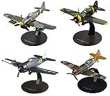 OPO 10 - Lote de 4 Aviones de Combate 1/72 Dewoitine + Brewster Buffalo + Grumman Hellcat + Hawker Typhoon (AC: 13 + 27 + 35 + 37)