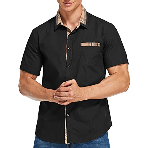 SSBZYES Camicie da Uomo Estive Camicie a Maniche Corte da Uomo Camicie di Fascia Alta Camicie da Lavoro Magliette Estive da Uomo