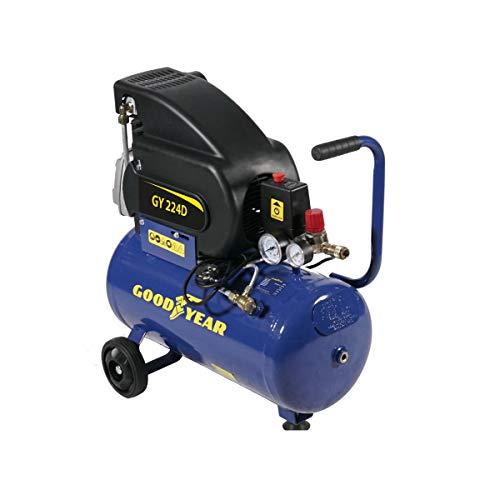 GOODYEAR - Compresor de aire eléctrico (24 L, 8 bares, 2 V, 1500 W, 210 litros/hora)