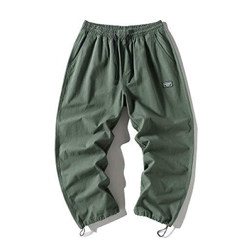 Pantalones relajados Retro de Color sólido para Hombre, Pantalones básicos Informales Sencillos con Abertura de Tobillo Ajustables y de Todo fósforo a la Moda L