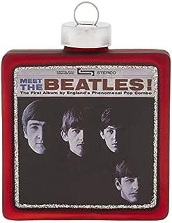 kat + annie Meet The Beatles Album Cover Ornament, Red