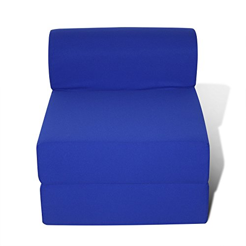American Furniture Alliance Children's Studio Chair Sleeper Jr. Twin 24', Royal Blue