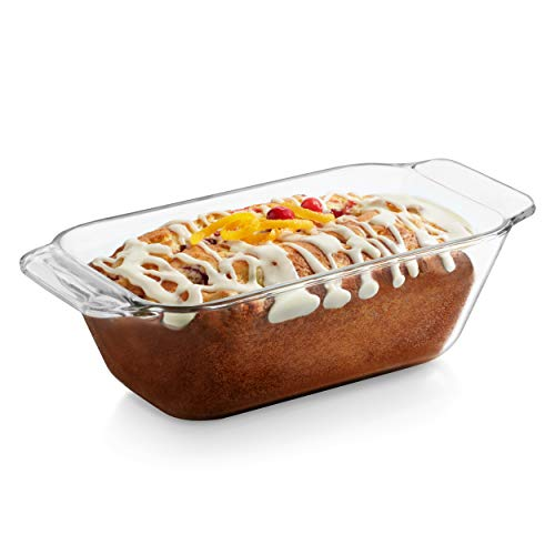 Libbey Baker's Premium Glass Loaf Dish, 9-inch by 5-inch