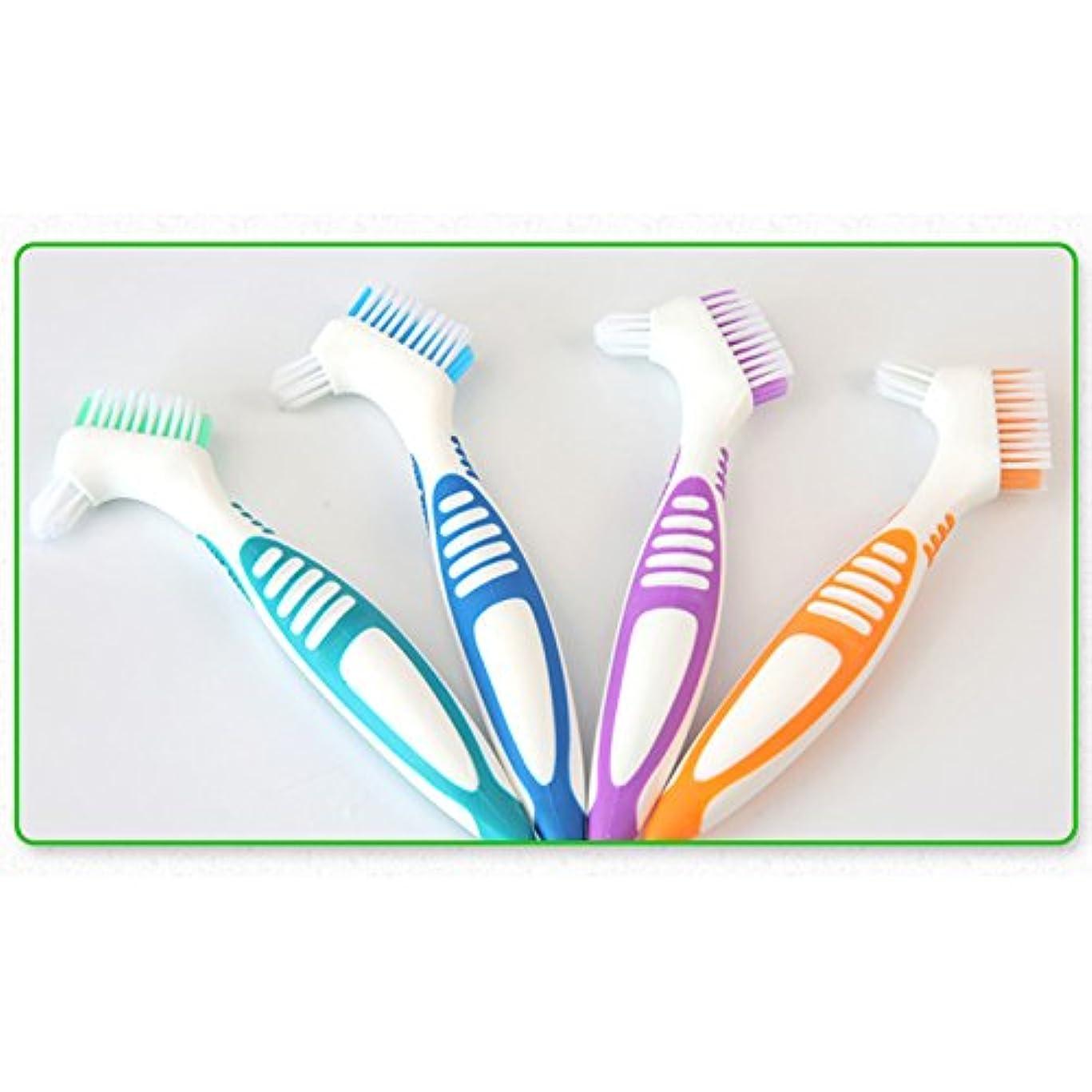 階段ぐったり不屈Liebeye 偽歯ブラシ 口腔ケアツール 歯洗浄 ブラシポータブル 多層ブリストル ブルー