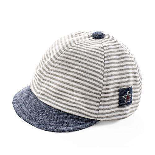 Sombrero de béisbol sol bebé recién nacido diseño de rayas Gorra Visera Large borde anti-UV protección solar sombrero de playa piscina pesca viaje para niños chicos chicas 2–12meses