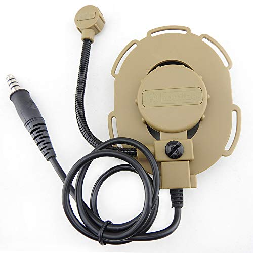 Tomtac Airsoft Bowman EVO III 3 Headset Boom Mic Tan Sand DE Helmet Radio