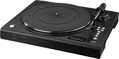 IMG Stageline DJP-106SD Stereo-HiFi-platenspeler met USB-poort, SD-kaartsleuf, geïntegreerde phono-voorversterker, zwart
