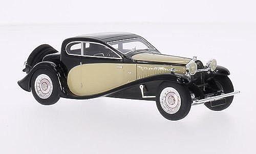Bugatti Type 50 T, Schwarzbeige, RHD, 1930, Modellauto, Fertigmodell, Look Smart 1 43