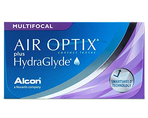 Alcon Air Optix plus HydraGlyde Multifocal Monatslinsen weich, 6 Stück / BC 8.6 mm / DIA 14.2 mm / ADD MED / -2.5 Dioptrien