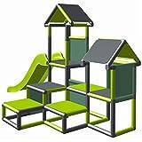 move and stic Spielturm Kletterturm Gesa mit Rutsche für Kleinkinder mit Kriechtunnel Mas...