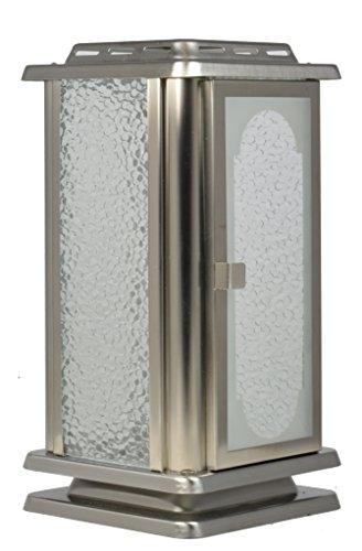 Paul Jansen Grablaterne aus Edelstahlblech matt gebürstet Höhe 23,5 cm, silber