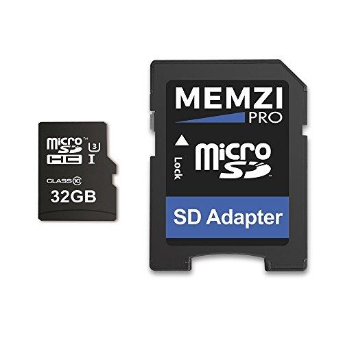 Memzi Pro 32GB Micro SDHC Speicherkarte für toguard in Auto Dash Cam Kameras–High Speed Class 10UHS-I U395MB/s Lesen 60MB/s Schreiben 4K 2K 3D Full HD Aufnahme mit SD Adapter