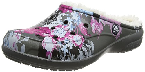 Crocs Freesail Graphic Lined Clog, Mujer Zueco, Multicolor (Floral/Slate Grey), 41-42 EU