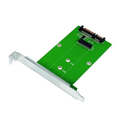 LogiLink PC0085 - Adattatore M.2 SATA (Chiave o Chiave B + M Key) SSD a SATA III 6 Gbps