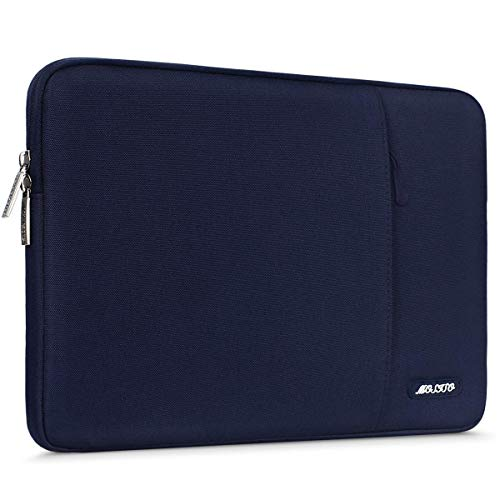 MOSISO Tablet Sleeve Hülle Kompatibel mit 2020 10.9 iPad Air 4,10.2 iPad 2020 2019,iPad Pro 11,10.5 iPad Air 3,10.5 iPad Pro,9.7 iPad,Surface Go, Polyester Vertikale Tasche, Navy Blau