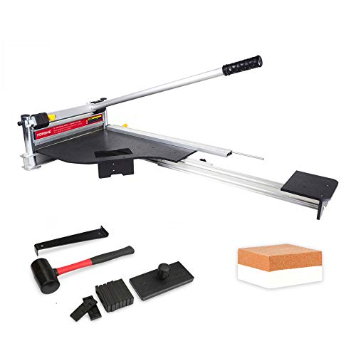 Norske Tools NMAP004 13 inch Laminate Flooring & Siding Cutter with Sliding Extension Table with Bonus Floor Installation Kit Great Value
