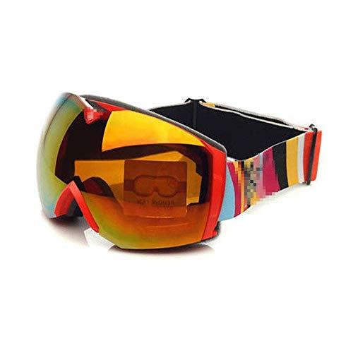 WCJ Skibrillen Snowboardbrillen UV-Schutz Anti-Fog Snow Goggles for Männer Frauen Jugendliche Kann großes Sichtfeld Sphärische tragen Myopie Brille (Color : A)