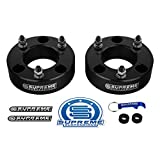Supreme Suspensions - Front Leveling Kit for 2004-2020 Ford F150 2003-2017 Ford Expedition and 2005-2008 Lincoln Mark LT 2' Front Lift Aircraft Billet Strut Spacers Kit 2WD 4WD (Black)