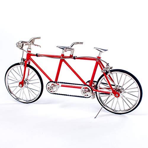 YOU339 DIY Fahrradmodellbausatz, Montage Simulation Tandem Fahrrad Dekoration Modell Dekor Ornament Geschenk