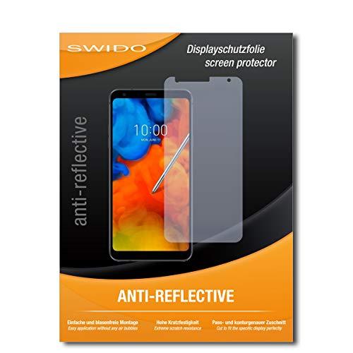 SWIDO Schutzfolie für LG Q Stylus + [2 Stück] Anti-Reflex MATT Entspiegelnd, Hoher Festigkeitgrad, Schutz vor Kratzer/Bildschirmschutz, Bildschirmschutzfolie, Panzerglas-Folie